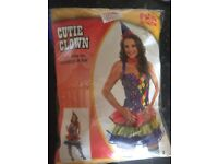FOR SALE - FANCY DRESS CUTIE CLOWN DRESS, BOWTIE, STOCKINGS AND HAT