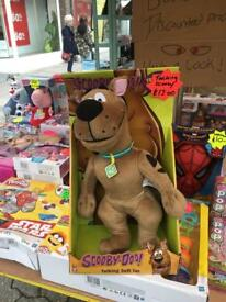 Talking scooby doo soft toy