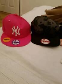 2 junior new york yankee caps