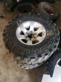 "L200 alloys and part worn tyres 31x10.50 on 15"" alloys £400"