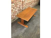 Solid Teak Mid Century G Plan Coffee Table T Shaped Legs Vintage Retro