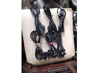 Job Lot 6x Computer Mains Kettle Power Lead Cable