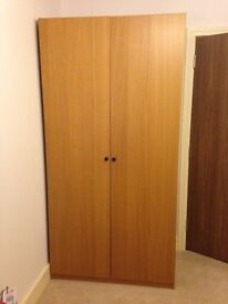 Ikea PAX Wardrobe Oak effect - good condition 100cm (W) x 60cm (D) x 200cm (H)