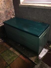 Green outside storage box