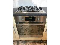 Whirlpool Integrated Electric Oven, 4 Ring Gas Hob and Extractor Hood.