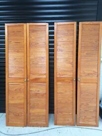 Four Louvre cupboard doors