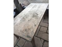 Solid wood table in need of some TLC