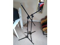 Two microphone boom stands