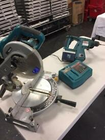 24 volt makita chop saw and hammer drill