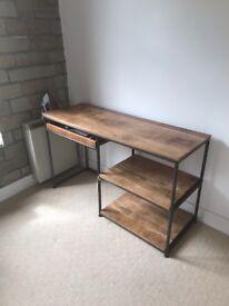 Industrial wood/metal desk. From Redbrick Mill.