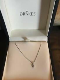 White gold and real diamond necklace from drakes