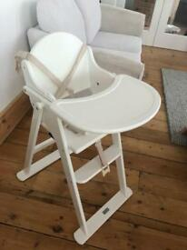East Coast Wooden High Chair White
