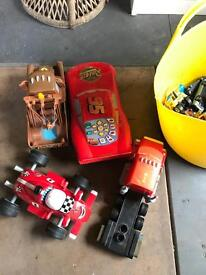 Lightning McQueen and rorry cars