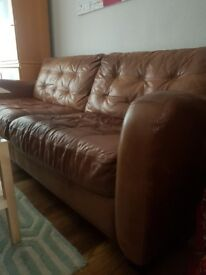 Brown Leather Sofa (FREE)
