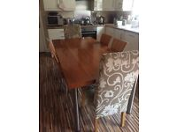 REDUCED!!!!!!!! Beautiful solid wood cherrywood dining table