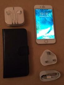 Iphone 6 128GB UNLOCKED Grade A+ Condition Complete With All Accessories + Flip Case