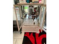 Glass cabinet with drawers for SALE