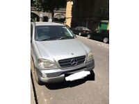 Mercedes ML 320 petrol /Gas 320 year 1999 spares or repair good auto gear box and engine.
