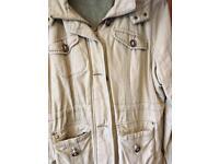 Ladies fleece lined hooded coat size 20