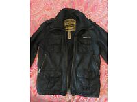 Mens superdry leather jacket size medium
