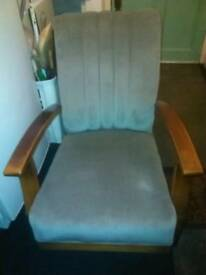 Antique grey easy chair