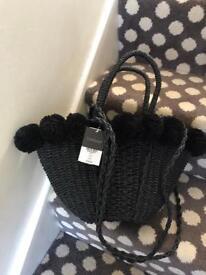 Brand new with tags topshop straw designer handbag latest style