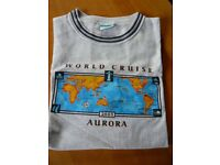 P & O world cruise T shirt the cruise that never sailed 2005 Aurora Size L
