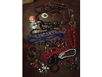 Jewellery bundle car boot sale job lot 30 piece necklace bangles bracelet earrings