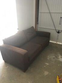 M&S Brown Fabric Sofa