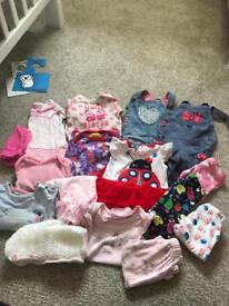 Baby Girls newborn up to one month bundle