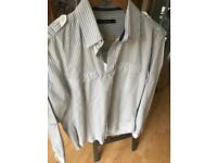 TOM WOLFE MENS STRIPED SHIRT SIZE SMALL