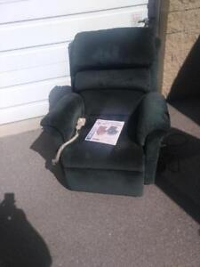 Dark Green Recliner with help-to-stand feature for ONLY $250