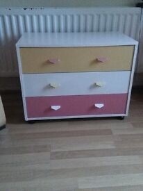 Set of 3 drawers freshly upstyled.All insides of drawers painted and strengthened