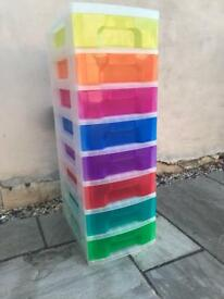 Multi Coloured Storage Drawers
