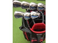 Golf clubs Cobra XL and Taylormade Cart bag
