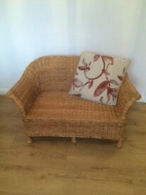 wicker sofa seat