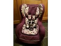 Purple car seat