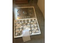 Brand New Stainless Steel 5 burner Hotpoint gas hob