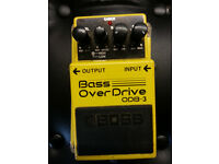 BOSS OVERDRIVE ODB-3 BASS GUITAR EFFECTS PEDAL.. GOOD CONDITION..TAIWAN