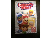 GUESS WHO? CARD GAME UNUSED / NEW IDEAL STOCKING FILLER