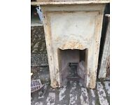 Old cast iron fireplace x2