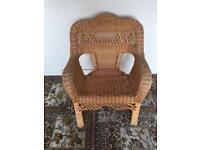 Wicker chair, natural colour