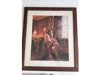 Framed Photo of 'Lady in Bedroom at Dressing Table'