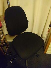 Black Swivel Adjustable Height Desk Chair