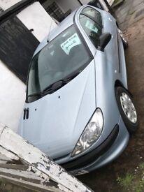 Peugeot 206 Look 1.4 Petrol 10 Month MOT Blue 5dr