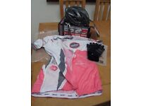 Cycle Helmet, gloves and shirt