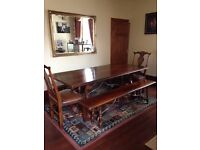 Beautiful 8 Seater Dining Table in Spanish Cherrywood (Reduced for quick sale)