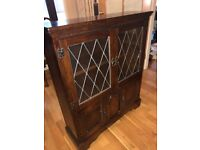 Attractive vintage leaded glass cabinet