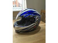 Motorcycle helmet RST blue, used twice, excellent condition size 57cm