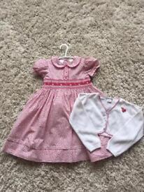 Girls Sarah Louise dress and matching cardigan age 3yrs